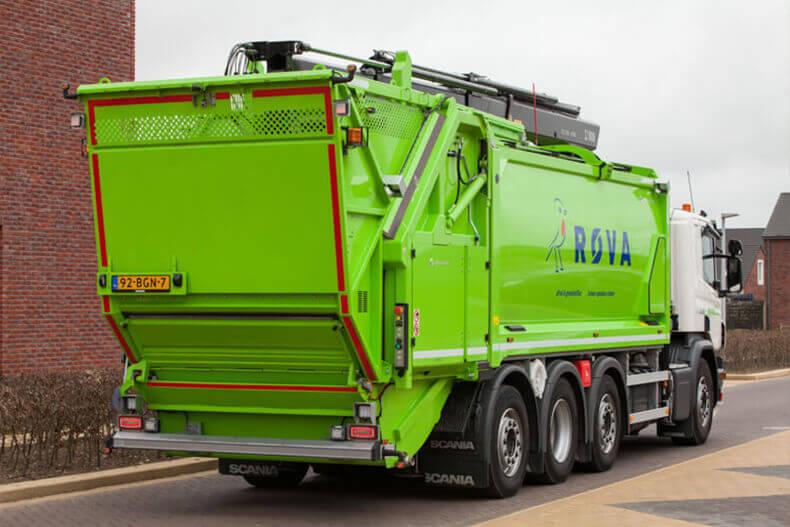 fotografie van vuilniswagens van geesink-norba op de juiste locatie is erg belangrijk voor het eind resultaat