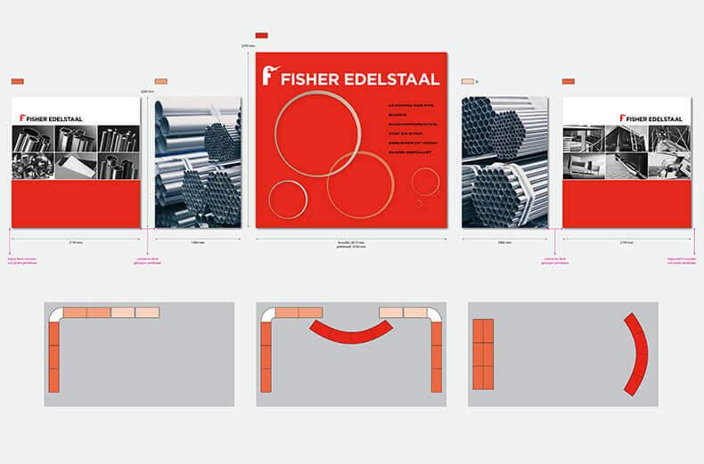Fisher Edelstaal uitwerking van de stand.