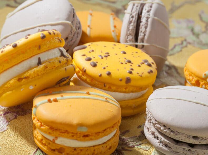 Macarons een uitdaging voor een food fotograaf.