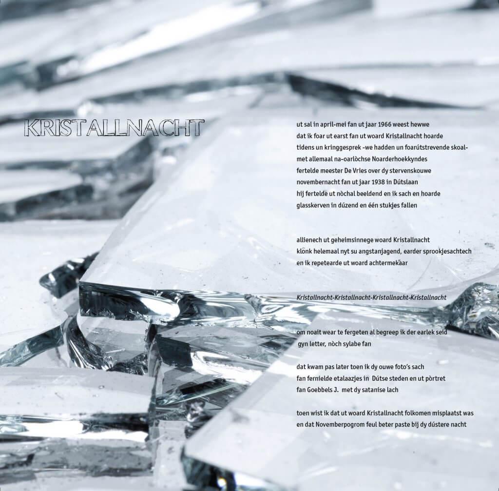 Kristalnacht Glas gebroken oorlog verzet onderdrukking