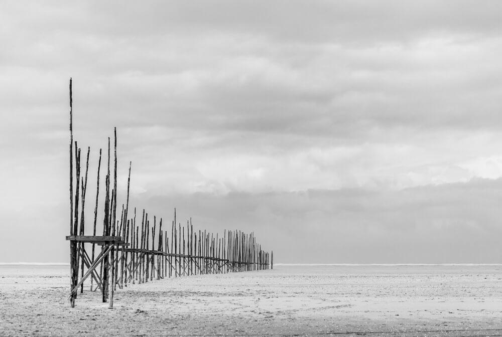 steiger vlieland strand waddenzee